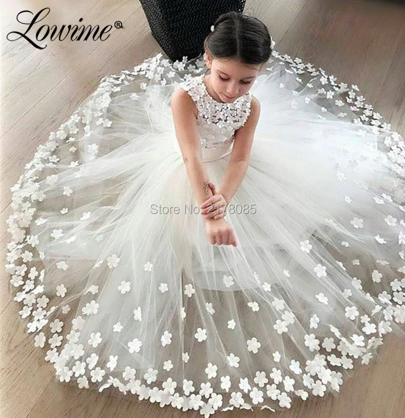 Handmade 3D   Flowers   First Communion   Dresses   For   Girls   Beautiful Pageant Gowns   Flowers     Girls     Dresses   Birthdays Party Wedding Gown