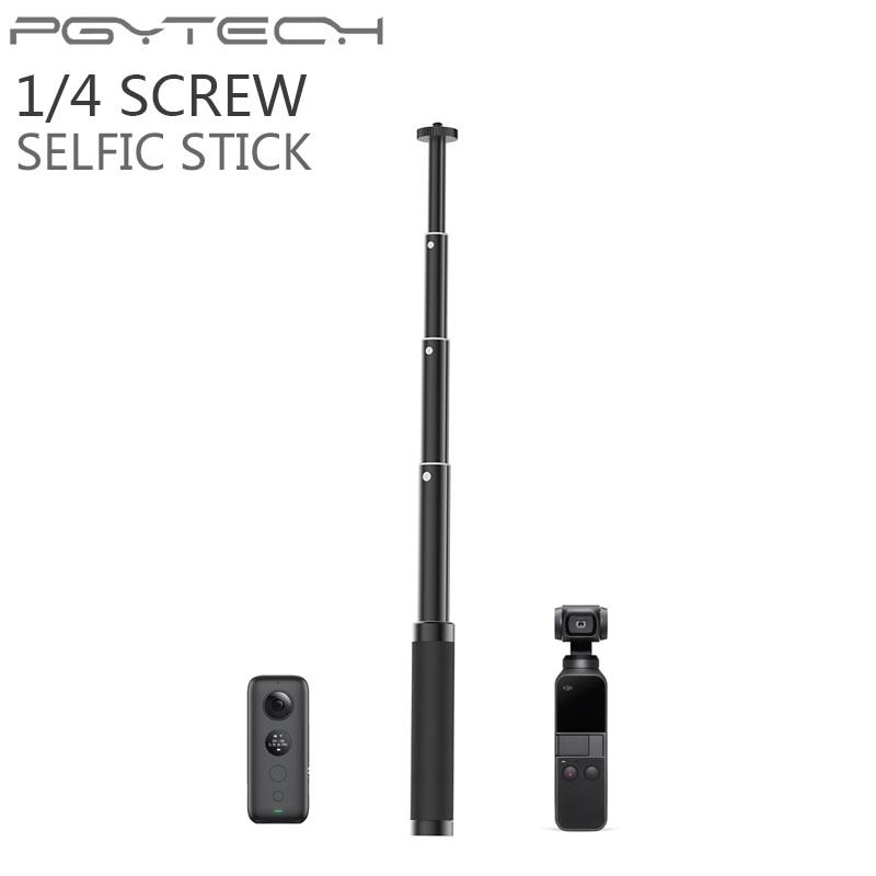 PGYTECH OSMO Action Pocket/Insta360 One X Extension Selfie Stick Pole Rod Tripod DJI OSMO Mobile 2 Zhiyun Gopro Hero 7 Accessory