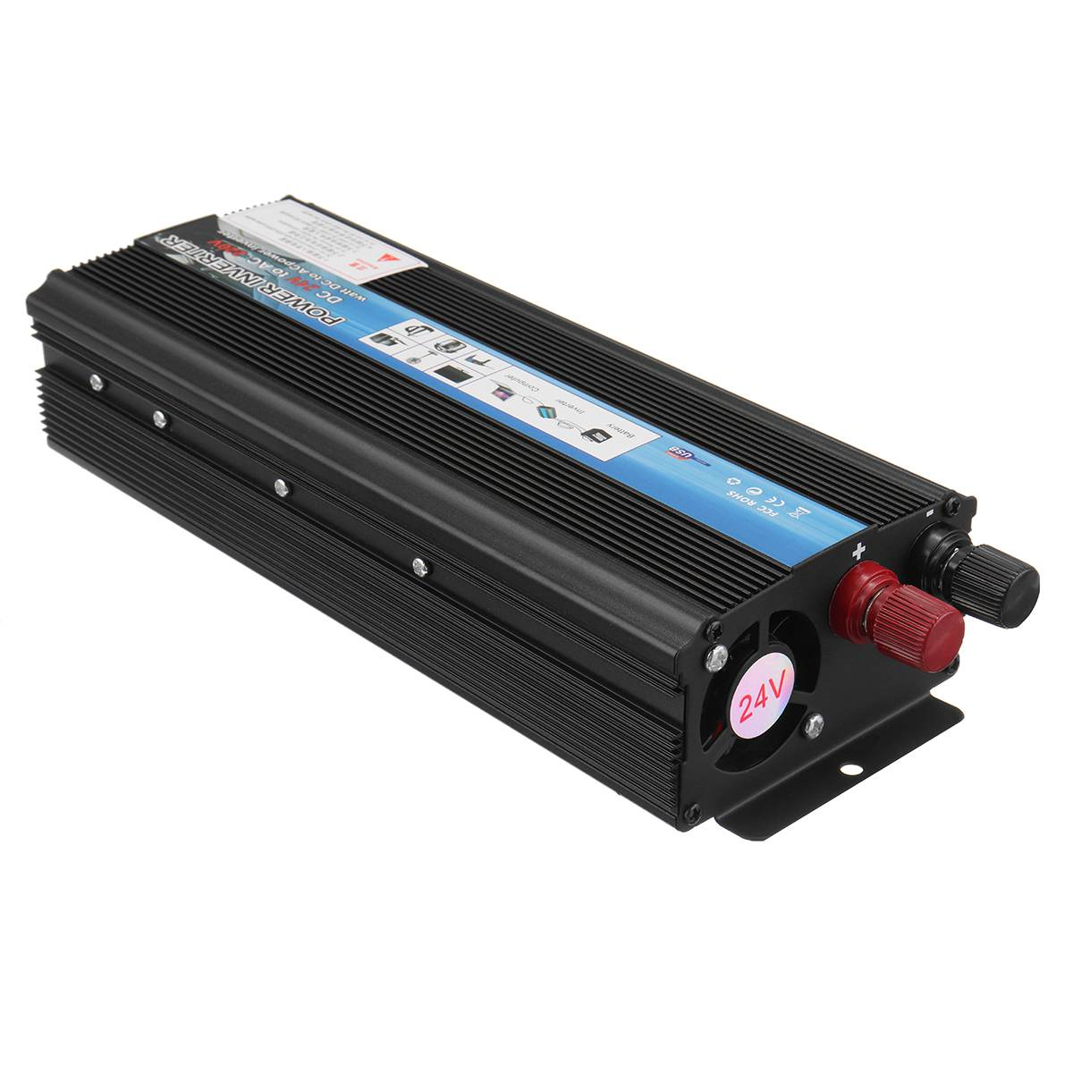 lowest price KROAK Car Inverter 12V 220V 5000W Pe ak Car Power Inverter Voltage Transformer Converter 12V To 220V Solar Inversor Black Style