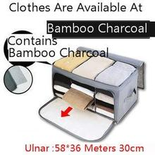 Bamboo Charcoal Makeup Organizer Three Grid Can Window Accept Box Sweater Makeup Bag 58*36*30cm Make Up Storage Caja Metalica