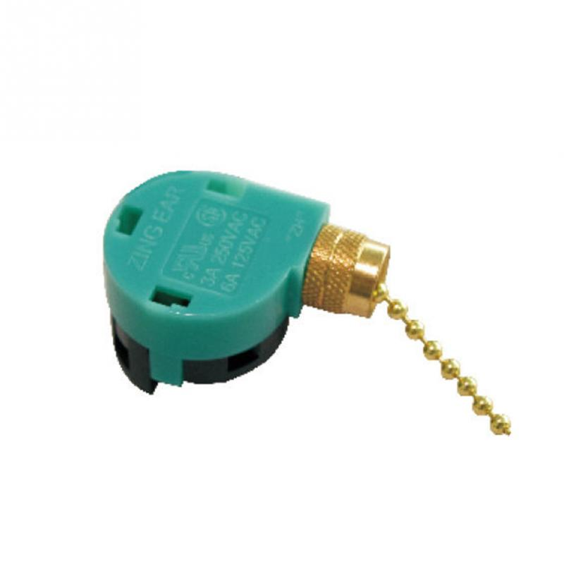 Zipper Switch 3 Speed Pull Chain Control Nickel Fan Switches Electrical Switch