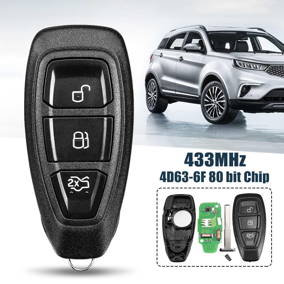 433 Mhz 3 Taste Smart Intelligente volle Remote Key für Ford B-Max für C-Max für Fokus für Galaxy KR55WK48801 4D83 80bit