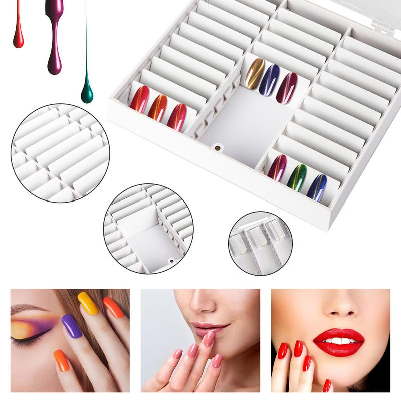 Nail Color Chart Display Nail Box UV Gel Polish Swatch Book Nail Painting Practice Design Board Portable High-end Art AccessoryNail Color Chart Display Nail Box UV Gel Polish Swatch Book Nail Painting Practice Design Board Portable High-end Art Accessory