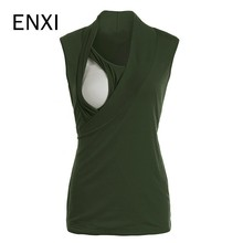 ENXI Breastfeeding Clothes Nursing Top Maternity Ropa Embarazada Pregnancy Shirt Sleeveless T Nurse Tops 2019