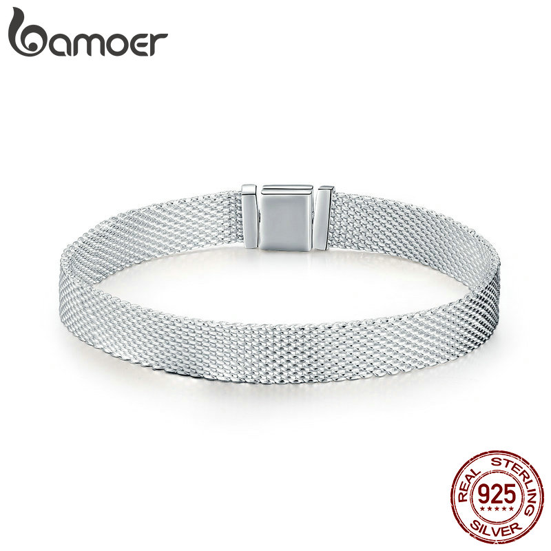 BAMOER Hot Sale Authentic 925 Sterling Silver Metropolitan Style Women Strand Bracelets Fashion Bracelets Jewelry Gift SCX001BAMOER Hot Sale Authentic 925 Sterling Silver Metropolitan Style Women Strand Bracelets Fashion Bracelets Jewelry Gift SCX001