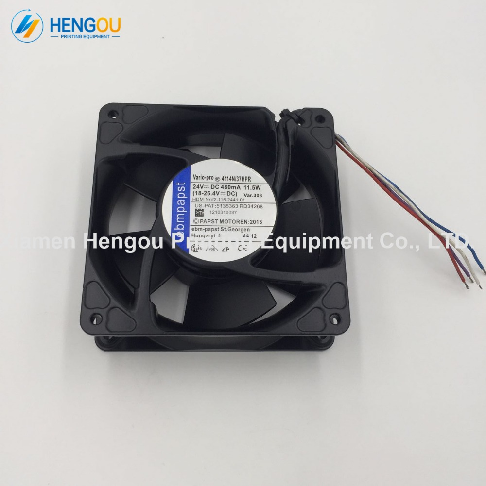 2 Pieces high quality offset parts 24V DC Fan Size 119x119x38mm HDM Nr.: f2.115.2441.01 SM74 machine original Fan2 Pieces high quality offset parts 24V DC Fan Size 119x119x38mm HDM Nr.: f2.115.2441.01 SM74 machine original Fan