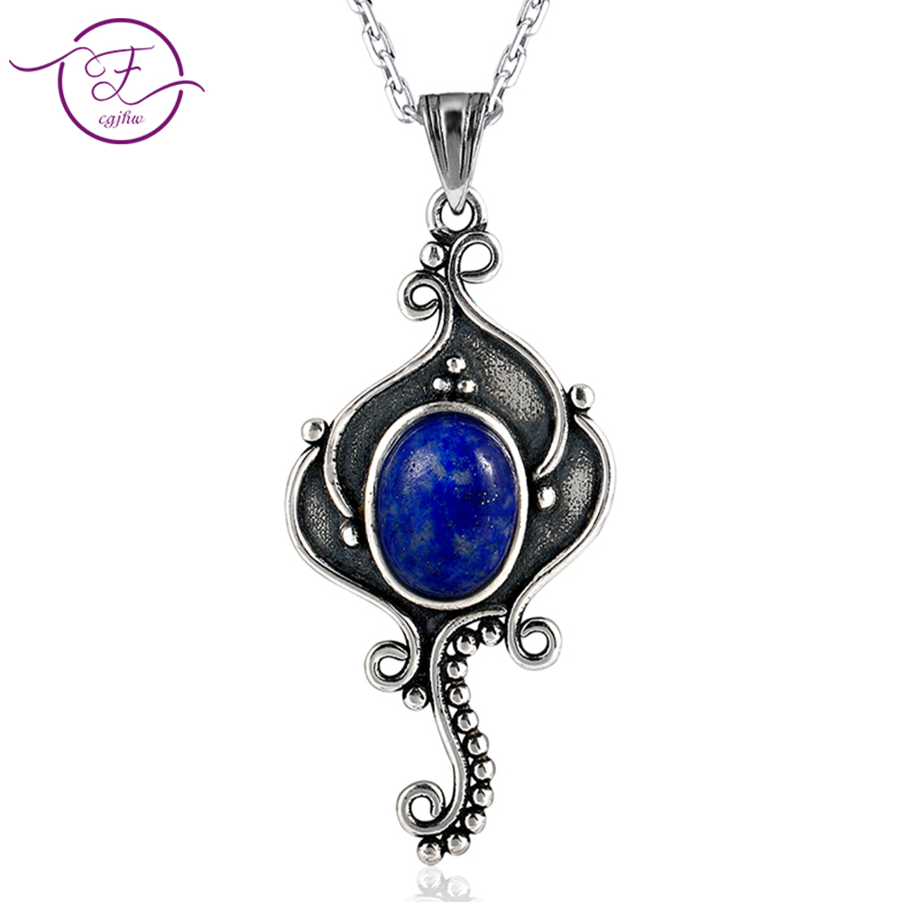 DIY Seahorse Pure Sterling Silver Vintage oval Sky Blue  Lapis Pendants Necklaces Womens Handmade Fine Jewelry Gifts WholesaleDIY Seahorse Pure Sterling Silver Vintage oval Sky Blue  Lapis Pendants Necklaces Womens Handmade Fine Jewelry Gifts Wholesale