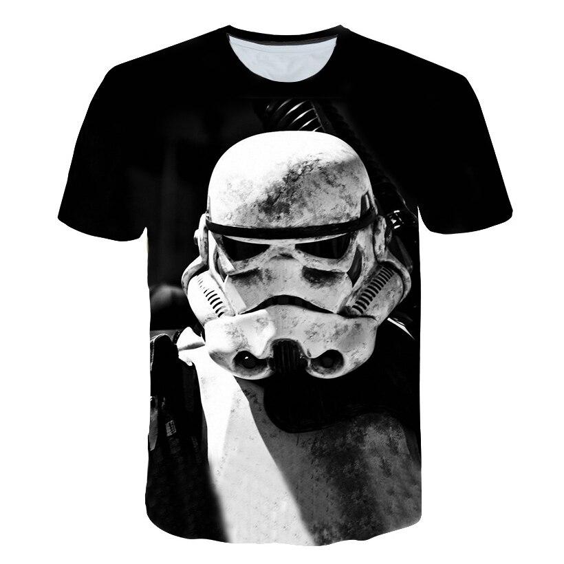 Men's T-shirt 2018 summer fashion Star Wars, yoda/darth vader street T-shirt men's casual T-shirt masks hip-hop top T-shirt