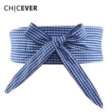 CHICEVER Japan Style Plaid Belts For Women Cummerbund 2019 S