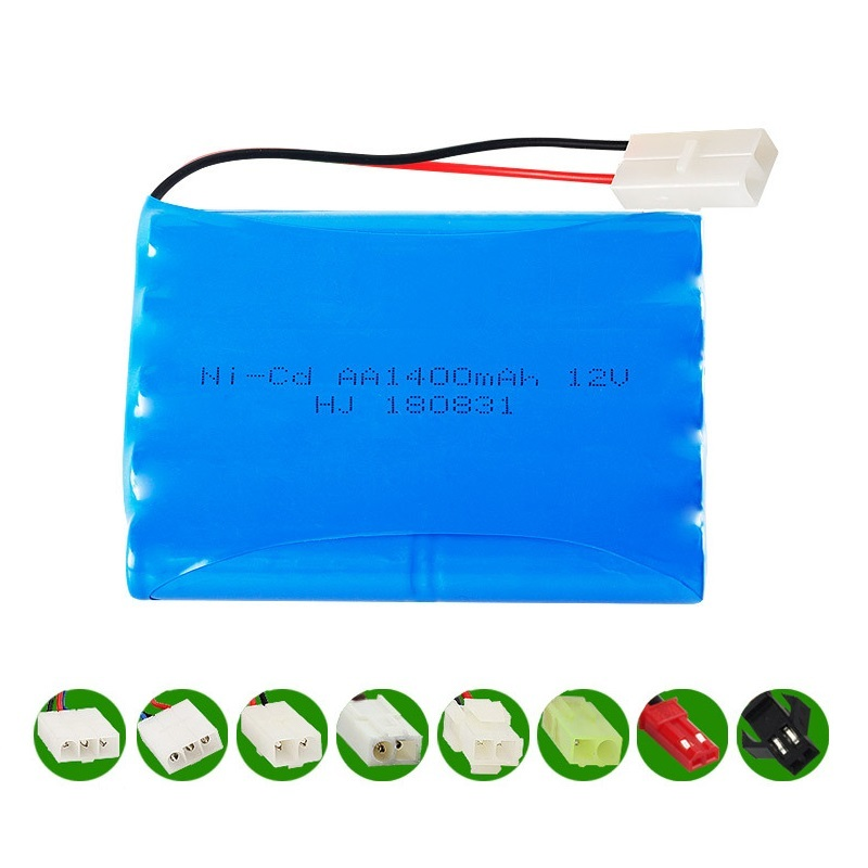 <font><b>12v</b></font> 1400mah NICD <font><b>Battery</b></font> Ni-CD <font><b>Battery</b></font> <font><b>AA</b></font> <font><b>12v</b></font> <font><b>battery</b></font> <font><b>pack</b></font> for RC toy Car Boat GUN TANK Trucks Trains RC toy model <font><b>Battery</b></font> image