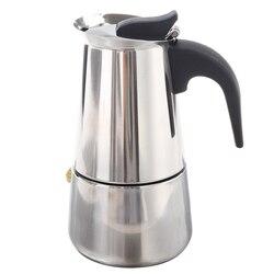 100 ミリリットルステンレス鋼のコーヒーメーカーパーコレーターストーブトップポット