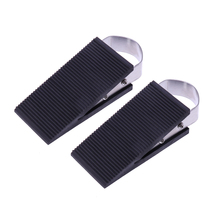 2Pcs Stainless Steel and Rubber Door Stopper Heavy Duty Stop Works on All Floor Surfaces