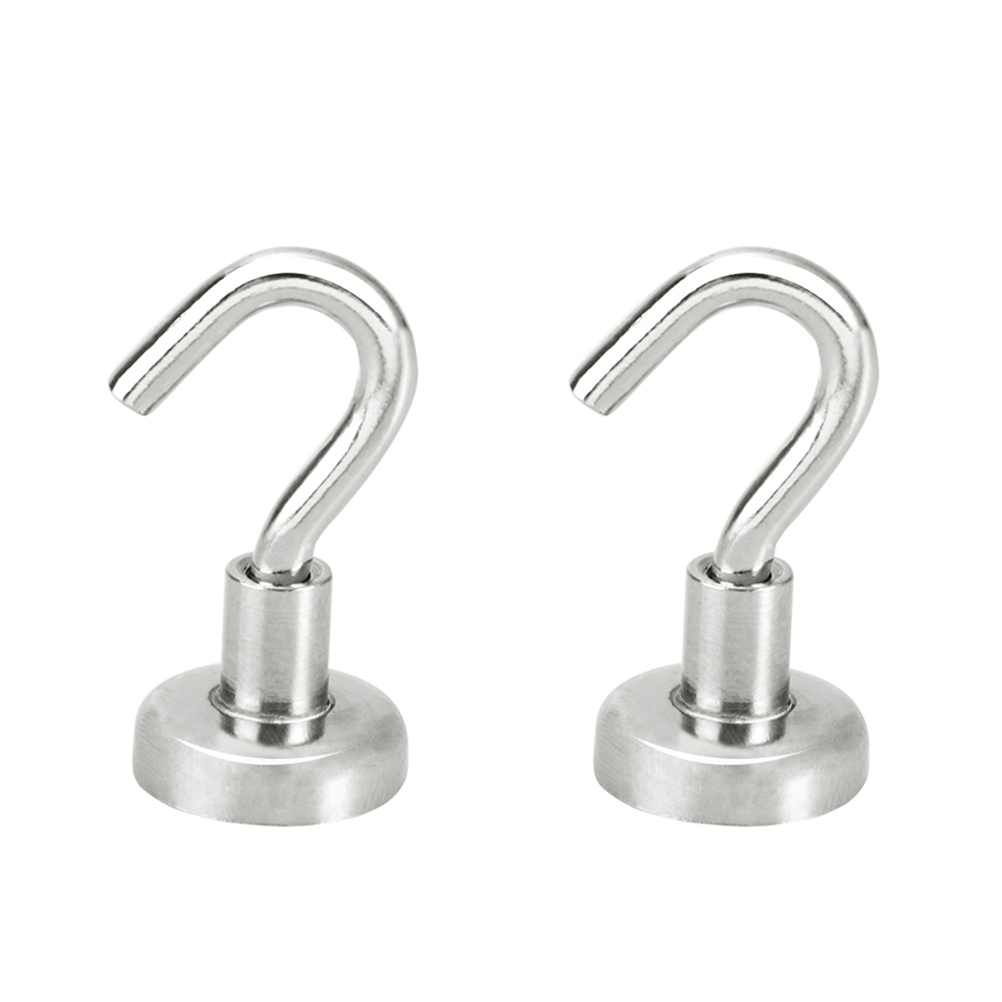 2pcs Strong Magnetic Hooks Heavy Duty Wall Hooks Hanger Key Coat Cup Hanging Hanger Wall Hanger For Kitchen Refrigerator