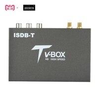 2 antenna Car Digital TV Box HD ISDB Full Seg Receiver ISDB T Mini Mobile Digital TV Receiver for Japan brazil chile Peru