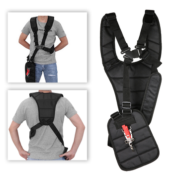 1 pcs 28 * 12 * 4 cm Adjustable Compatible Padded Trimmer Shoulder Harness Strap Protection Panel Garden Brush Cutter Strimmer double padded strimmer brushcutter harness quick release shoulder straps suits