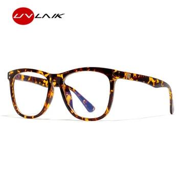 UVLAIK optique bleu lumière bloquant lunettes cadres femmes rétro Anti Blu-ray monture de lunettes hommes Vintage Transparent lunettes