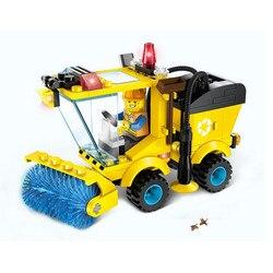 Crianças brinquedos educativos! 102 pçs/set modelo de vassoura conjunto blocos de construção kit iluminar puzzle brinquedo crianças aniversários legoeings