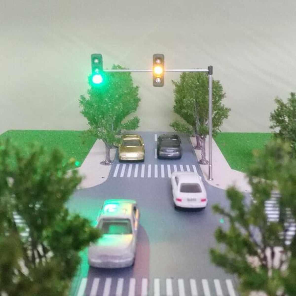 1 шт. DIY весы строительный песок модель стола HO/OO светофор светодиодный Модель Масштаб железная дорога Миниатюрные