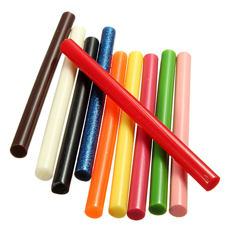 10Pcs 7*100mm Vintage Sealing Wax Colored Glue Stick Melting Envelope Invitation Stamp Security Packaging Repair Tool