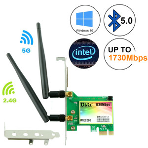 Image 1 - Ubit WiFi Card,AC 1730Mbps,Bluetooth 5.0 Dual Band Wireless Network Card, 9260 PCIe Adapter,PCI E Wireless for Desktop PC