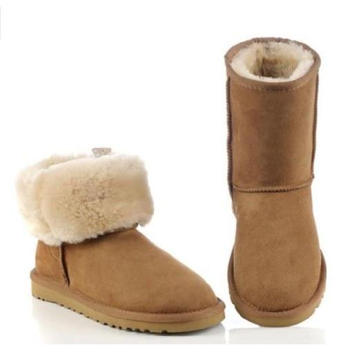Mouton Demi Bérets Les Caoutchouc black Mode La Laine Mi Chestnutting Bottes 2019 grey À De D'été Pour sandy Femelle bottes Femme Bo Printemps Neige En Femmes Peau chaussures x1t8X