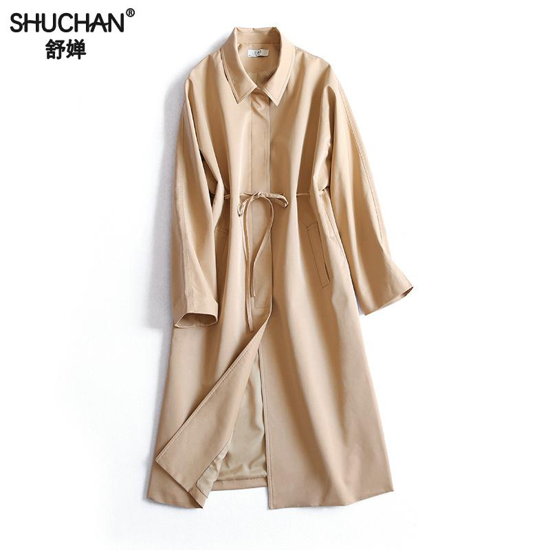 Cortavientos Femmes Office Mince Mode Lady Z coat Ceinture Z7617 z7617 Trench Femelle z7617 Shuchan 2018 De Printemps Coupe vent 7617 Tlc1FKJ