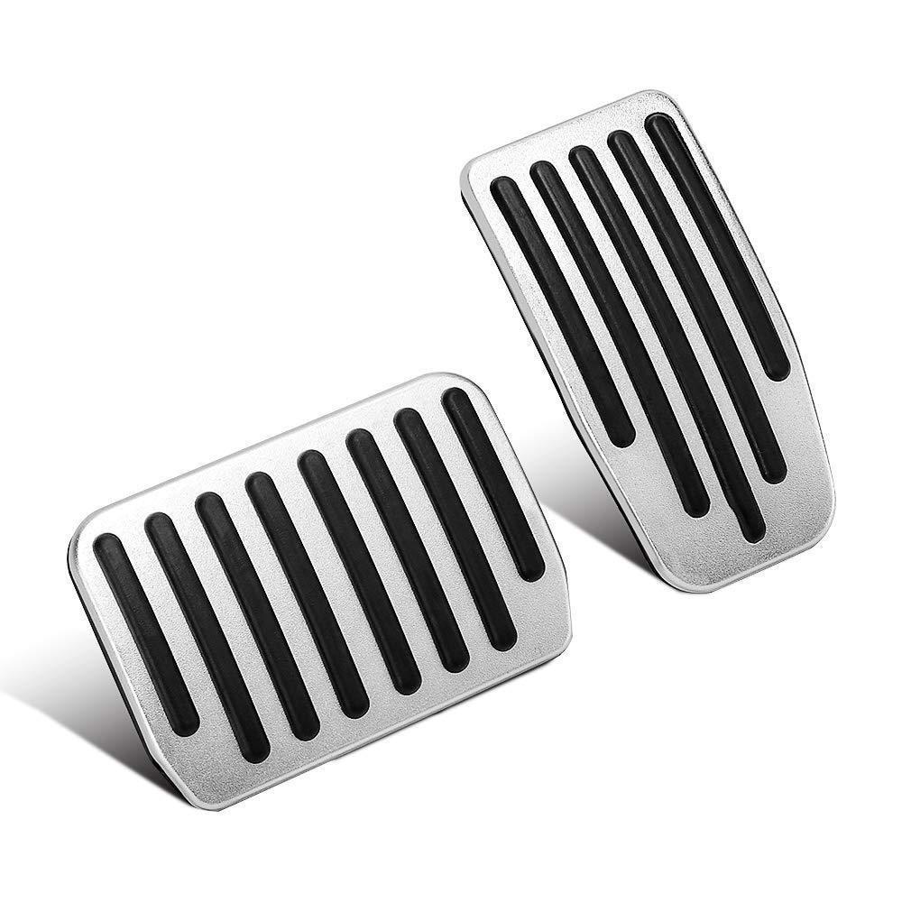 Foot-Pedal Cover Brake-Pedal-Pads Tesla-Model Aluminum 3-Accelerator for 2pcs Non-Slip
