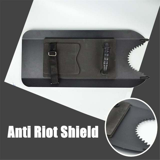 Self-Defence Arm Type Anti-Riot Shield Aluminum Alloy Metal Handheld Shields Board Security Safety SelfDefense Supplies Black