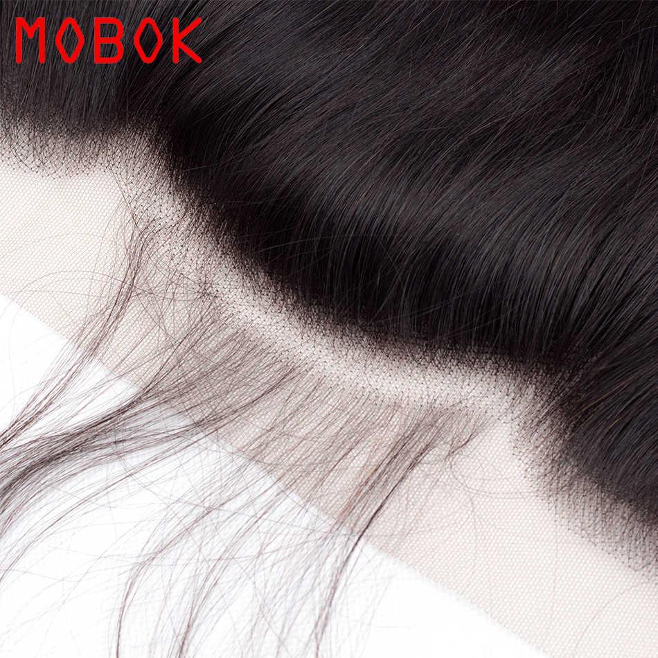 Малазийские волнистые пучки с фронтальным кружевом 13*4 с 2/3 пучками человеческих волос дешевые пакеты волос с закрытием