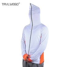 TRVLWEGO Fishing Clothing Hooded Long Sleeve Men Jacket Quick-Drying Coat Fishing Shirt For Hiking Cycling Clothes Sunscreen недорого