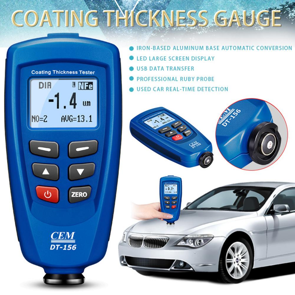 Digital DT 156 Paint Coating Thickness Gauge Meter Tester 0 1250um with Built in Auto F