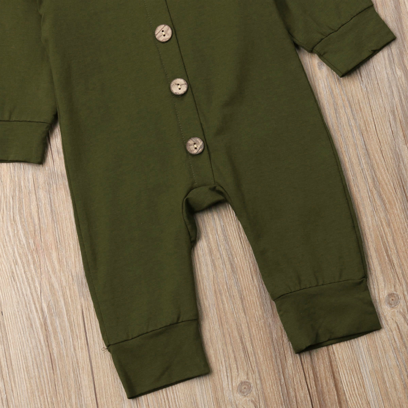 Toddler Baby Clothes Hooded Long Sleeve Button Boy Girl Kids Baby Rompers Cotton Jumpsuit New Born Toddler Baby Clothes Hooded Long Sleeve Button Boy&Girl Kids Baby Rompers Cotton Jumpsuit New Born Baby Clothes Casual Outfit
