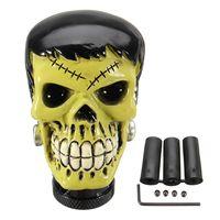 Universal Car Truck Manual Gear Stick Shift Knob Lever Shifter Frankenstein Skull Gothic Model Resin