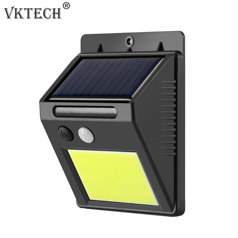 Outdoor Solar Light 48LED COB Smart IR Motion Sensor Wall Light Wall Mount Infrared Human Body Induction Garden Lamp