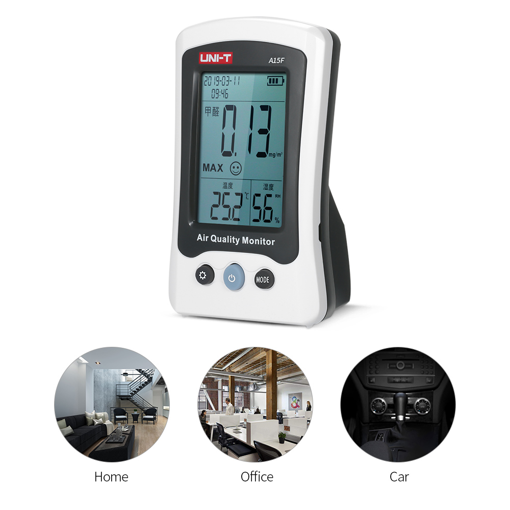 5 In 1 Air Quality Monitor Formaldehyde Tester Thermometer Temperature Humidity Meter Clock Calendar Rechargeable Hcho Detector5 In 1 Air Quality Monitor Formaldehyde Tester Thermometer Temperature Humidity Meter Clock Calendar Rechargeable Hcho Detector
