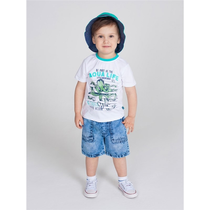 [Available with 10.11] denim shorts for boys raw hem stripe side ripped denim shorts