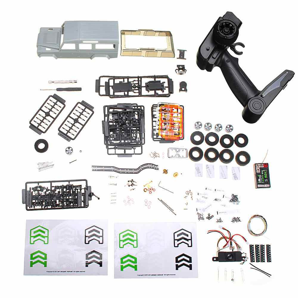 Orlandoo-Hunter OH32A03 1/32 DIY Kit Unpainted RC Car Rock Crawler w/ Electronic Parts