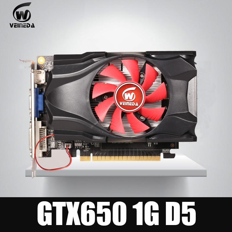 GTX650 GPU Veineda video card GTX650 1G 128Bit gtx graphics vga game card 1059 5000MHz Stronger
