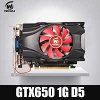 Carte vidéo GTX650 GPU Veineda GTX650 1G 128Bit gtx carte de jeu graphique vga 1059/5000MHz plus résistante que HD6570 pour les jeux nVIDIA