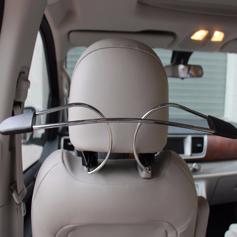 OHANEE Car Coat Hanger Auto Headrest Back Seat Hanger Holder Jacket Suit Clothes Hanger Stainless Steel Accessories