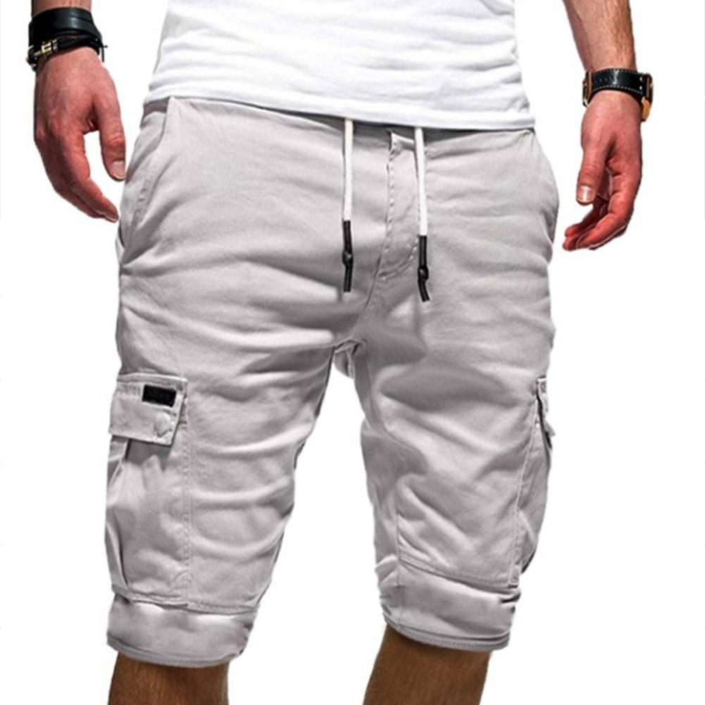 ZACOO Men Casual Relaxed Fit Multi-pocket Middle Length Pants