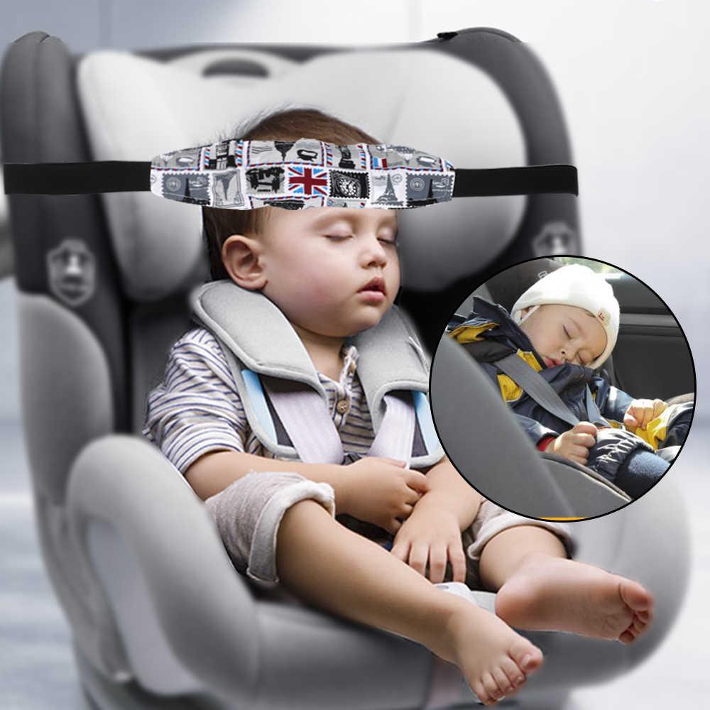 รถเข็นเด็กทารกความปลอดภัยที่นั่งเข็มขัด 1pc รถเด็กปลอดภัยที่นั่งยึดหัวเสริมผ้าฝ้ายเข็มขัดเด็ก Sleep Head ผู้ถือสนับสนุน