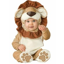 New Infant Toddlers Baby Boys  Lion Costume Halloween Party Cosplay Costumes for Christmas Purim Holiday Jumpsuit new arrival jumpsuit elephant monkey lion owl elf pink horses penguins leotard romper infant costumes baby costumes baby onesie