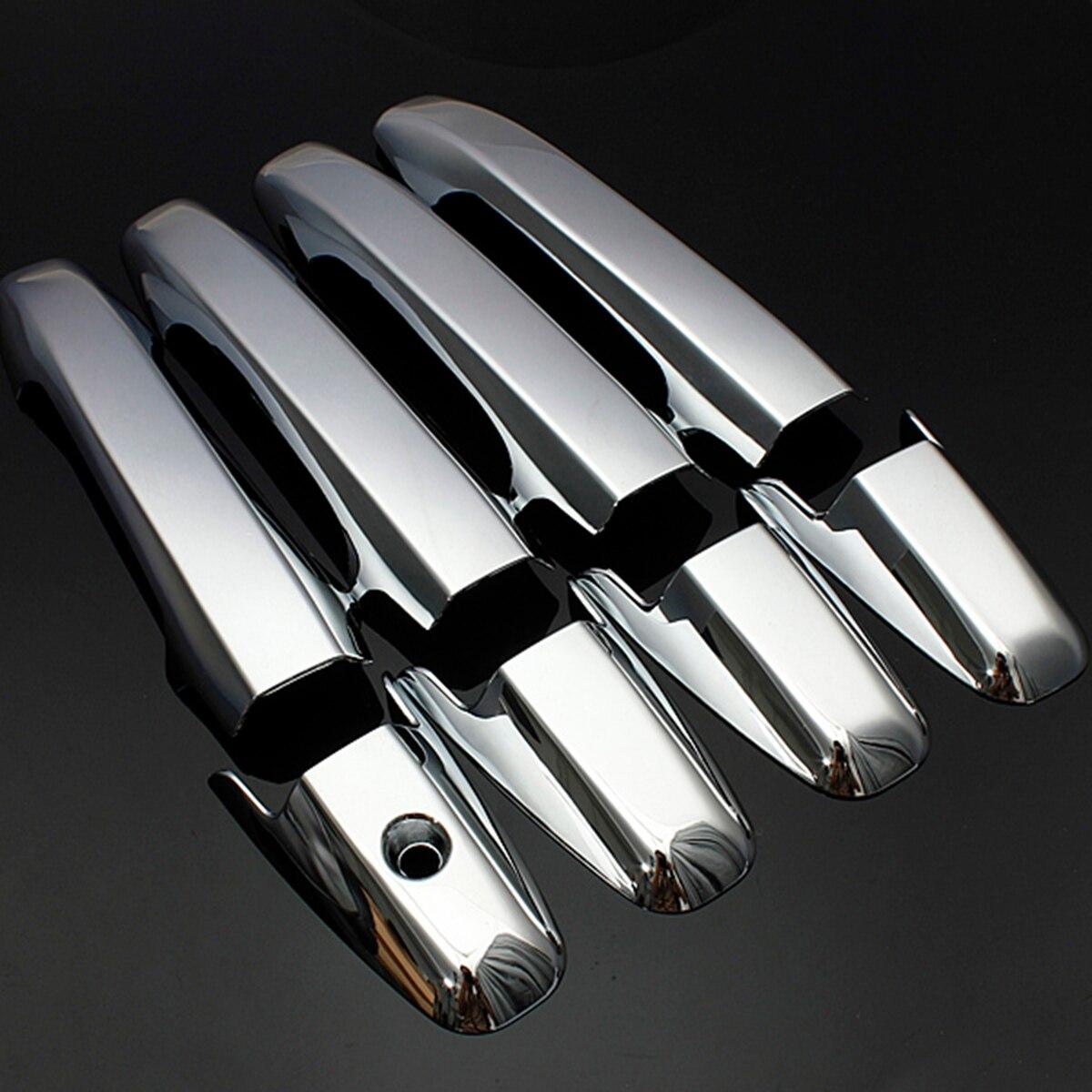 Carbon Fiber Side Door Handle Covers Trims For 2006-2011 Honda Civic Sedan