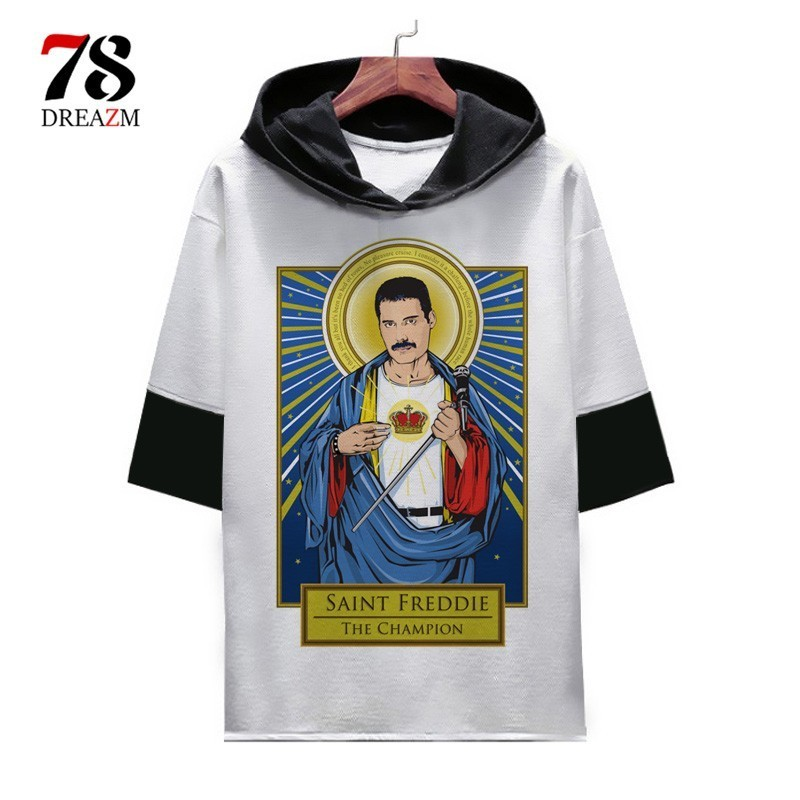 6d0493f8575b Freddie Mercury T Shirt men/women tshirt The Queen Band rock homme male  t-shirt top tee shirts cool hip hop Harajuku O Neck