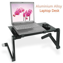 Portable Foldable Laptop Desk Outdoor PC Rack Computer Study Office Table Laptop Desk Rack Adjustable Computer Standing Desk(China)