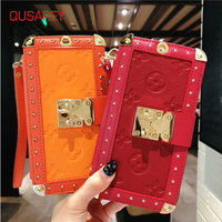 QUSAREY Luxury Leather Wallet Phone Bag Cases For iPhone 6s 6 For iPhone X 8 7 6s Plus Case Mobile Cover Fashion Women Bag Case