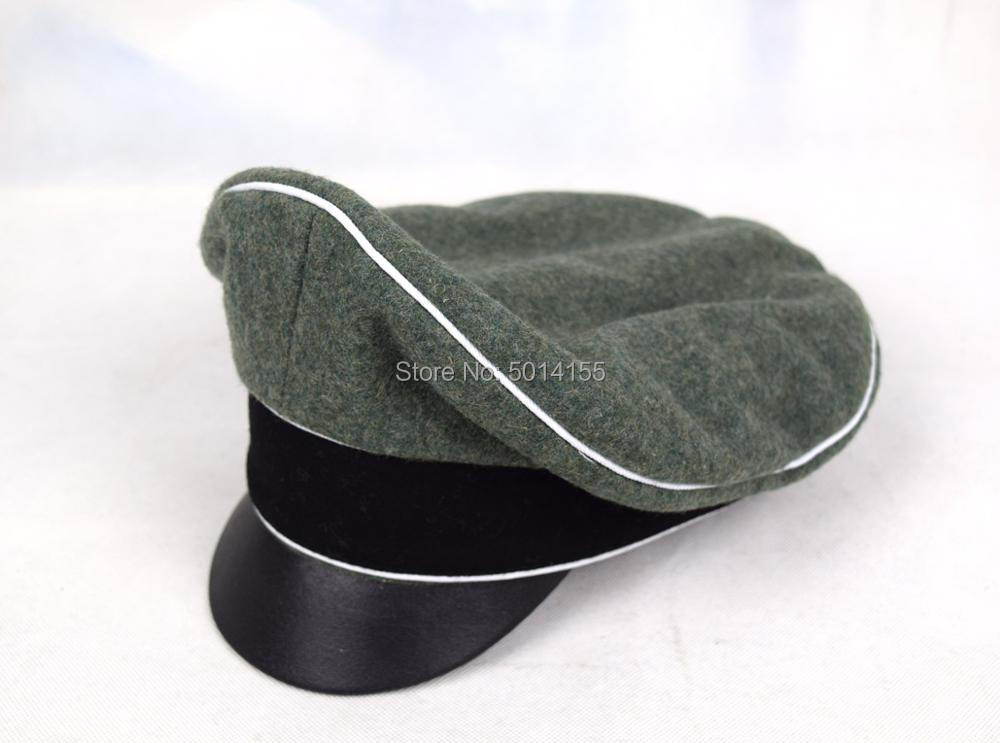 Replica WW2 German Army Field Marshals Generals Officers Crusher Field Visor Hat Cap(China)