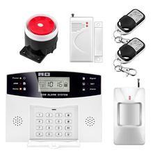 Беспроводной сигнализации системы SMS GSM PSTN сети дома PIR детекторы движения голосовые команды с английского