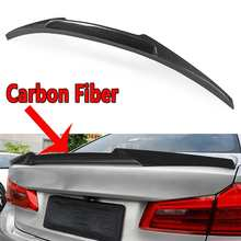 575944f43818 New Rear Trunk Boot Spoiler Wings Real Carbon Fiber Trunk Spoiler Lid For  2017-18 for BMW G30 520d 530i 540i V Type Car-styling